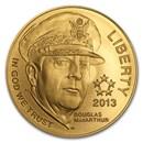 2013-P Gold $5 Commem Five Star General BU (w/Box & COA)