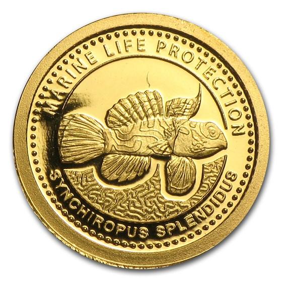 2013 Palau 1/2 gram Gold $1 Marine Life Protection Mandarinfish