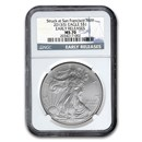 2013 (S) American Silver Eagle MS-70 NGC (Early Releases)