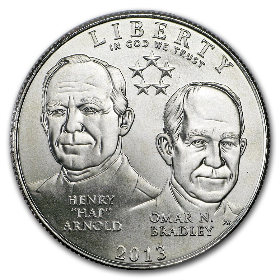 2013-S Five Star General 1/2 Dollar Clad Commem BU (w/Box & COA)
