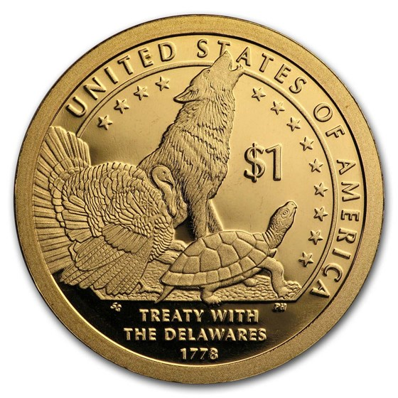 2013-S Native Amer $1 - Treaty with the Delawares Gem Proof