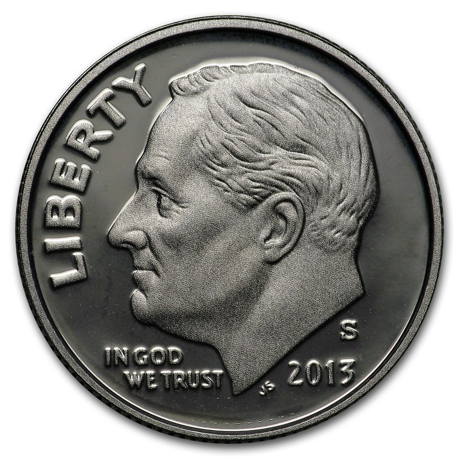 2013-S Silver Roosevelt Dime Gem Proof