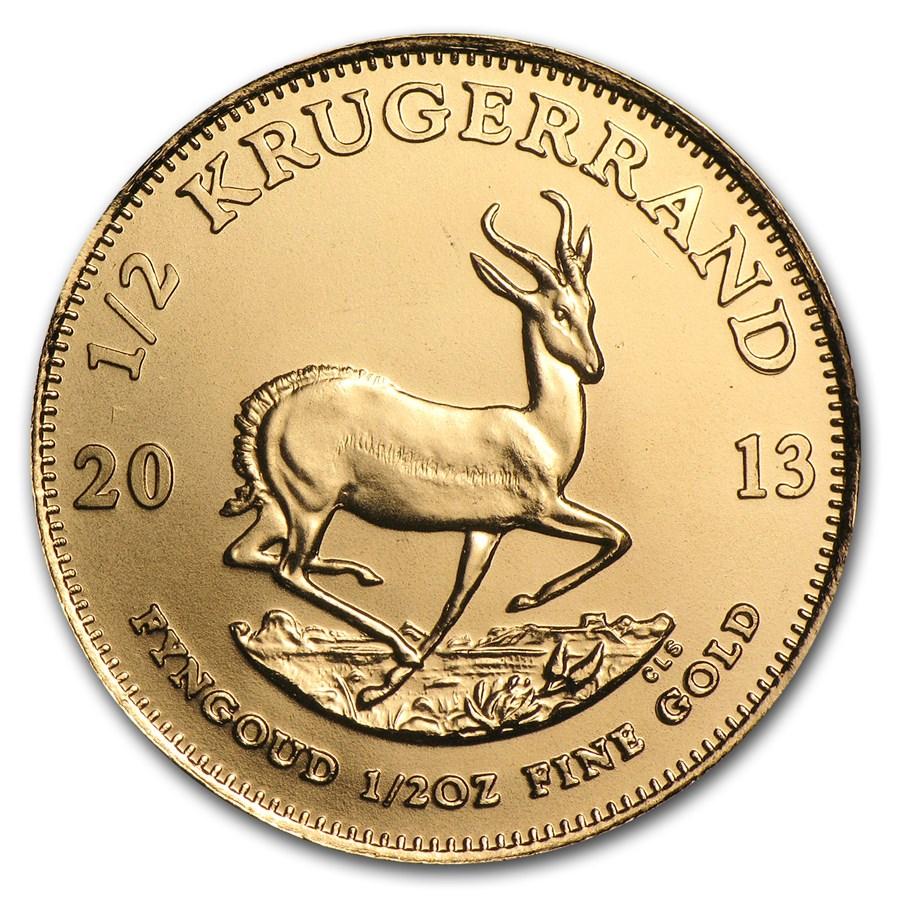 2013 South Africa 1/2 oz Gold Krugerrand