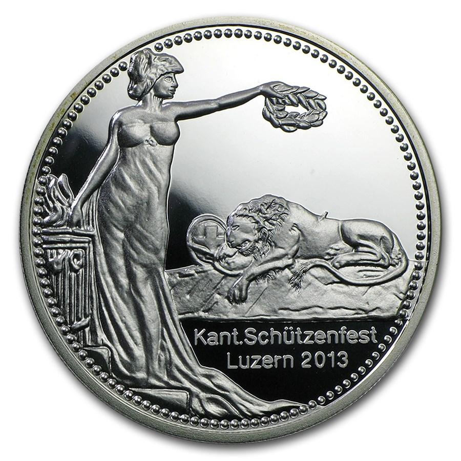 2013 Switzerland Silver Proof 50 Francs Schützenfest Lucerne