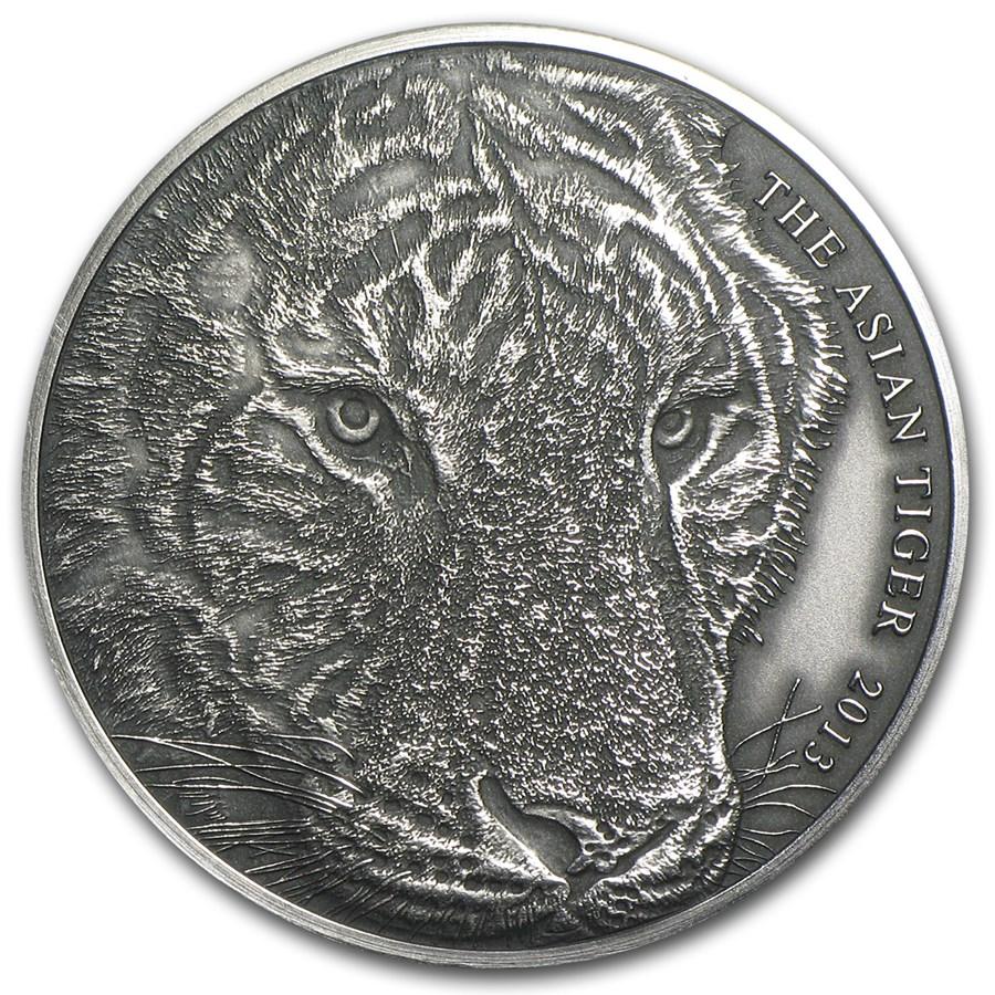 2013 Tokelau 1 oz Silver Asian Tiger