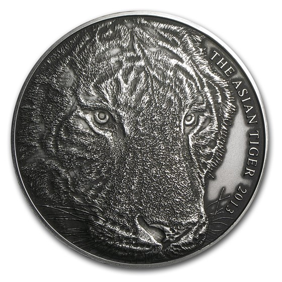 2013 Tokelau 5 oz Silver Asian Tiger