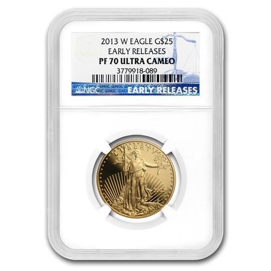 2013-W 1/2 oz Proof Gold American Eagle PF-70 NGC (ER)