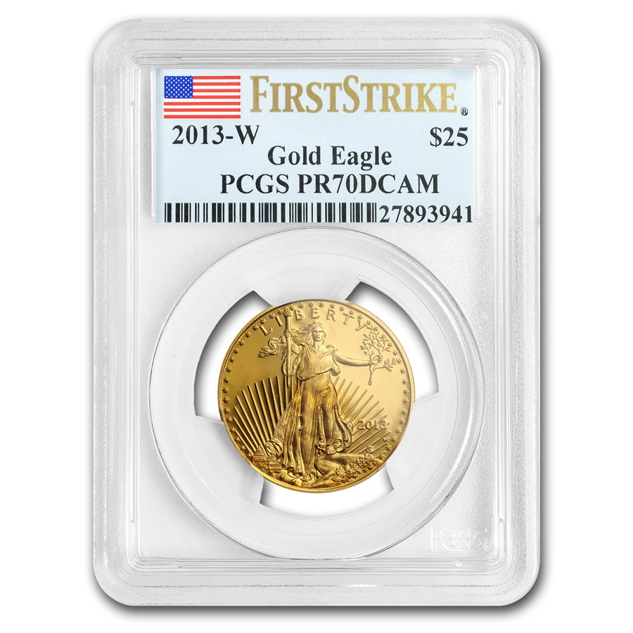 2013-W 1/2 oz Proof Gold American Eagle PR-70 PCGS (FirstStrike®)