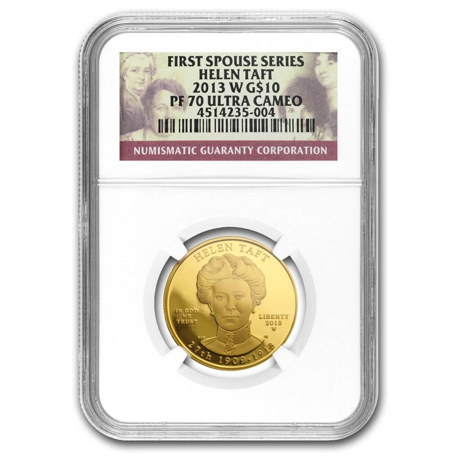 2013-W 1/2 oz Proof Gold Helen Taft PF-70 NGC