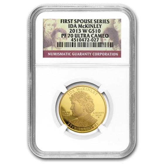 2013-W 1/2 oz Proof Gold Ida McKinley PF-70 NGC