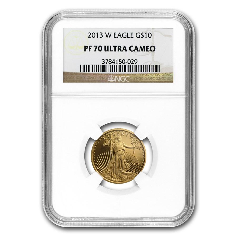 2013-W 1/4 oz Proof Gold American Eagle PF-70 NGC