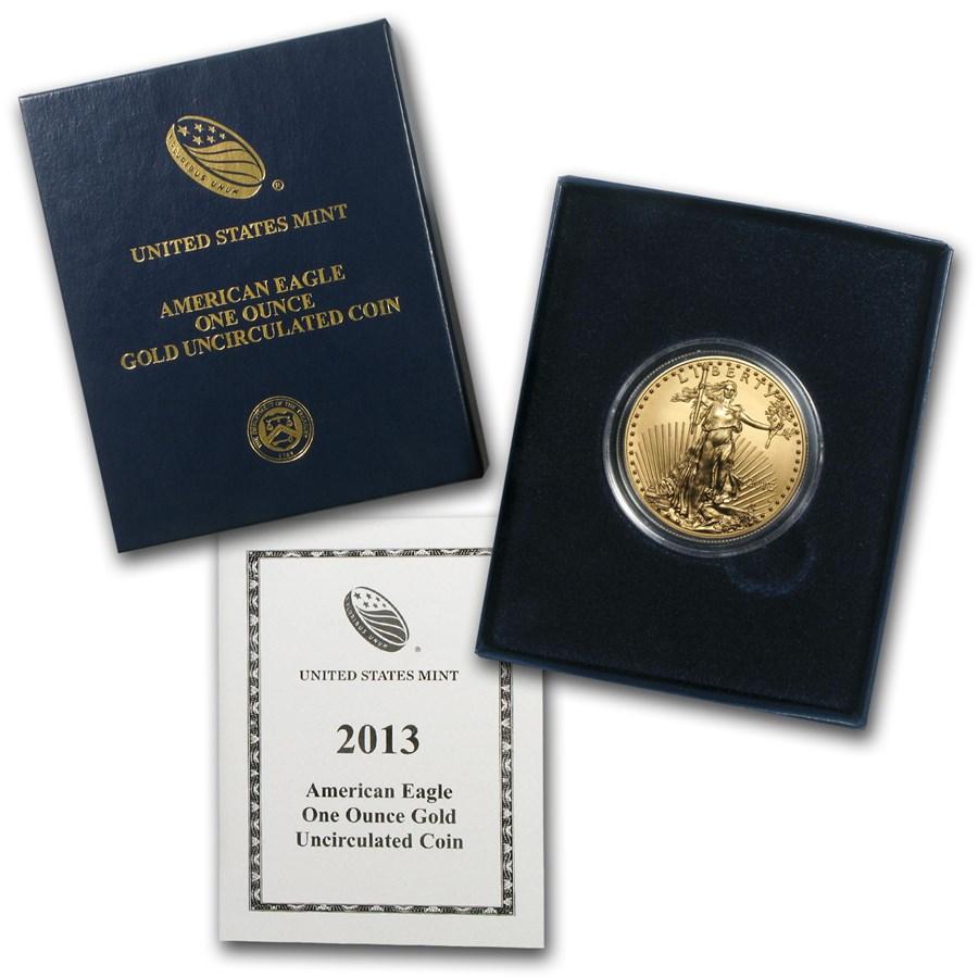 2013-W 1 oz Burnished Gold Eagle (w/Box & COA)