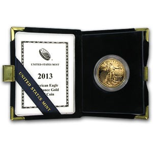 2013-W 1 oz Proof Gold American Eagle (w/Box & COA)