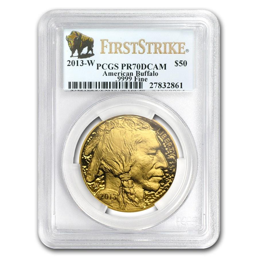 2013-W 1 oz Proof Gold Buffalo PR-70 PCGS (FirstStrike®)