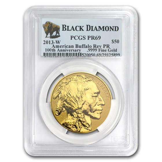 2013-W 1 oz Reverse Proof Gold Buffalo PR-69 PCGS (Black Diamond)