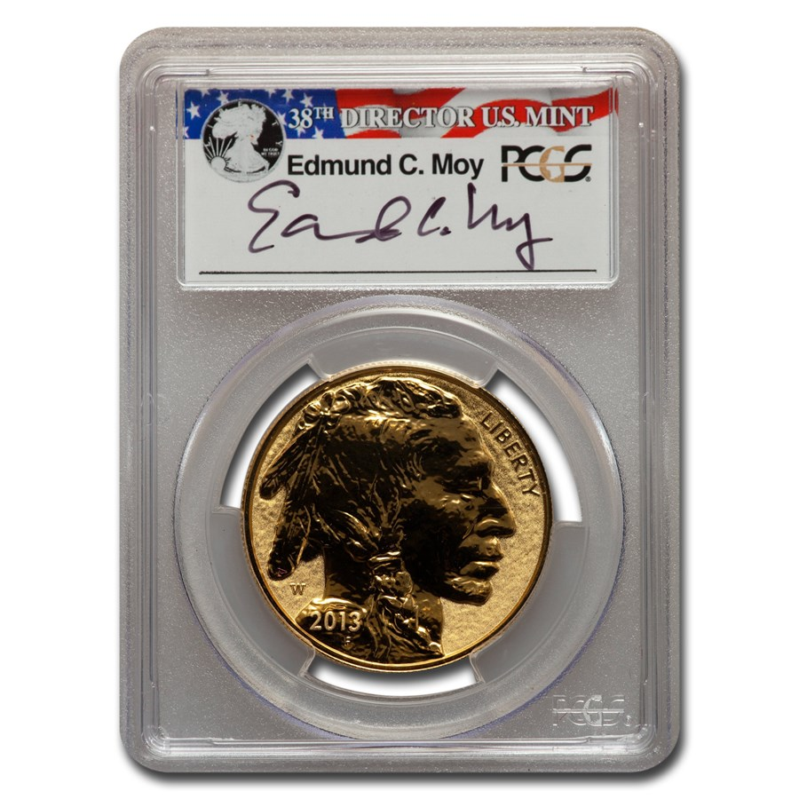 2013-W 1 oz Reverse Proof Gold Buffalo PR-70 PCGS (Moy)