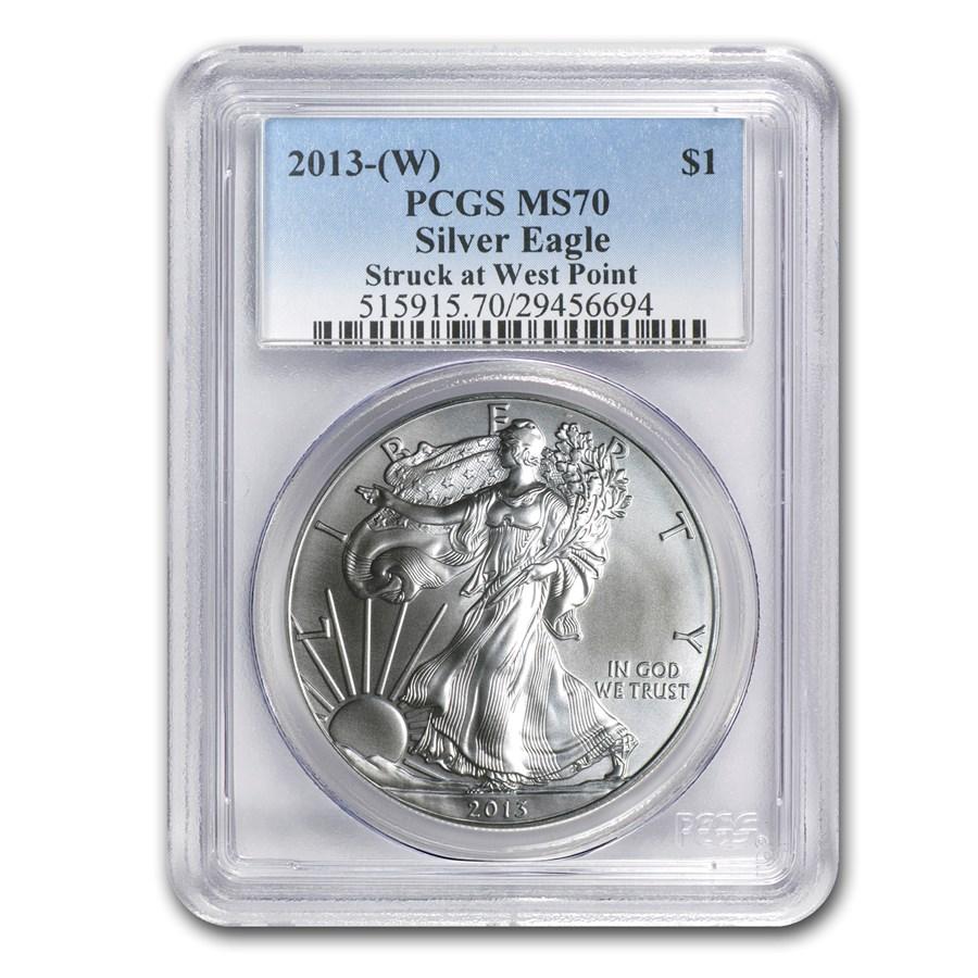 2013 (W) American Silver Eagle MS-70 PCGS