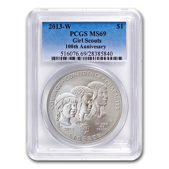 2013-W Girl Scouts $1 Silver Commem MS-69 PCGS