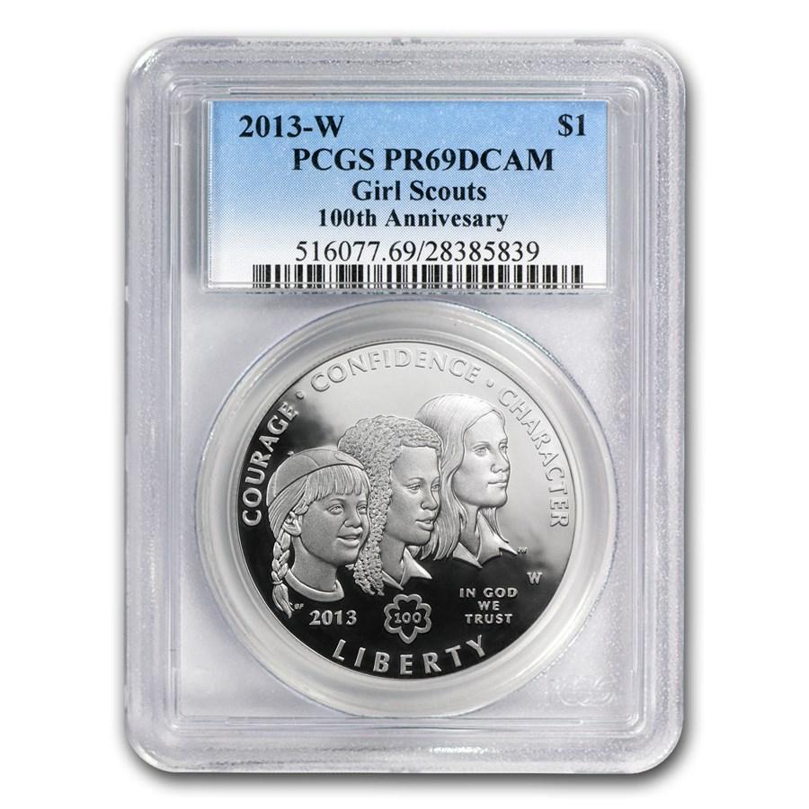 2013-W Girl Scouts $1 Silver Commem PR-69 PCGS