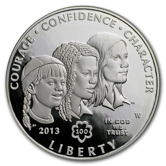 2013-W Girl Scouts $1 Silver Commem Proof (Capsule Only)