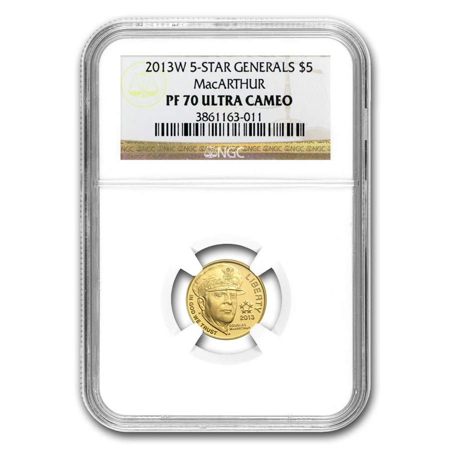 2013-W Gold $5 Commem Five Star General PF-70 NGC
