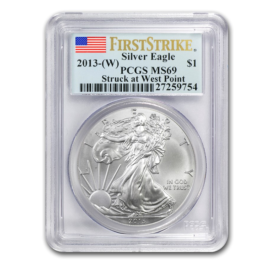 2013 (W) Silver American Eagle MS-69 PCGS (FirstStrike®)