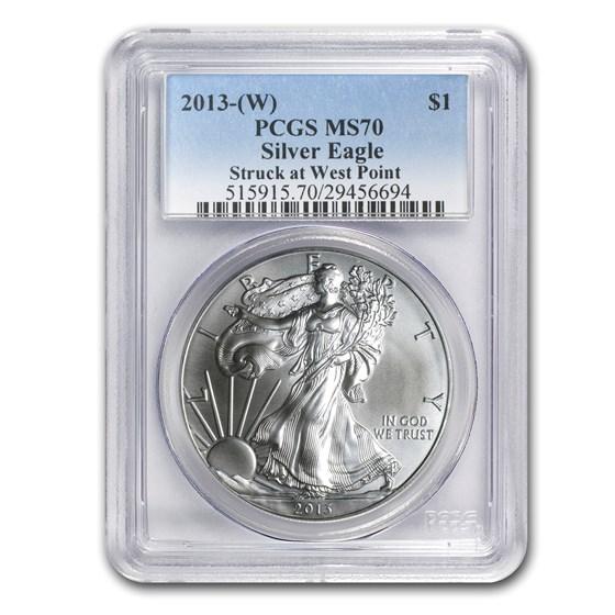 2013 (W) Silver American Eagle MS-70 PCGS