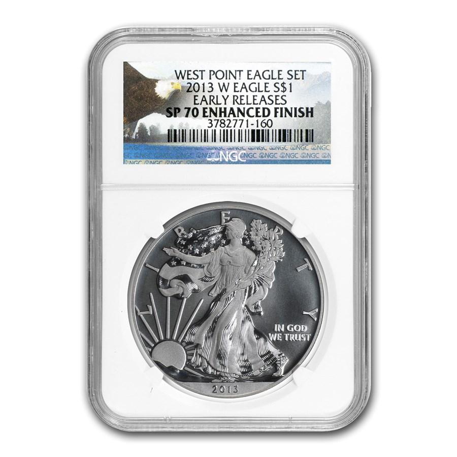 2013-W Silver American Eagle SP-70 NGC (ER, Enhanced Finish)