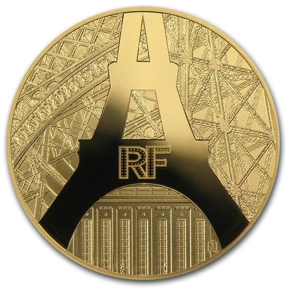 2014 1/4 oz Gold €50 Eiffel Tower/Palais de Chaillot (w/out COA)