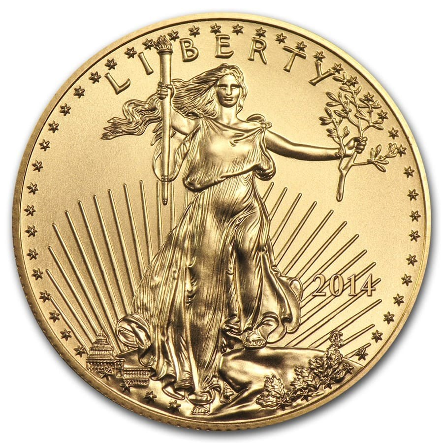 2014 1 oz American Gold Eagle BU