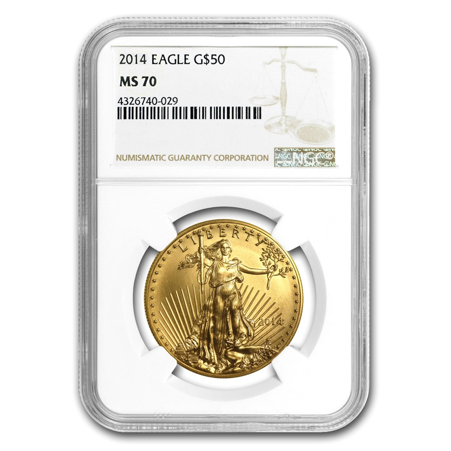 2014 1 oz American Gold Eagle MS-70 NGC
