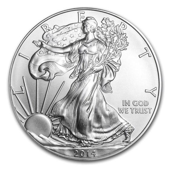 2014 1 oz American Silver Eagle BU