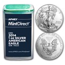2014 1 oz American Silver Eagles (20-Coin MintDirect® Tube)