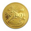 2014 1 oz Gold Lunar Year of the Horse (Series II, Abrasions)