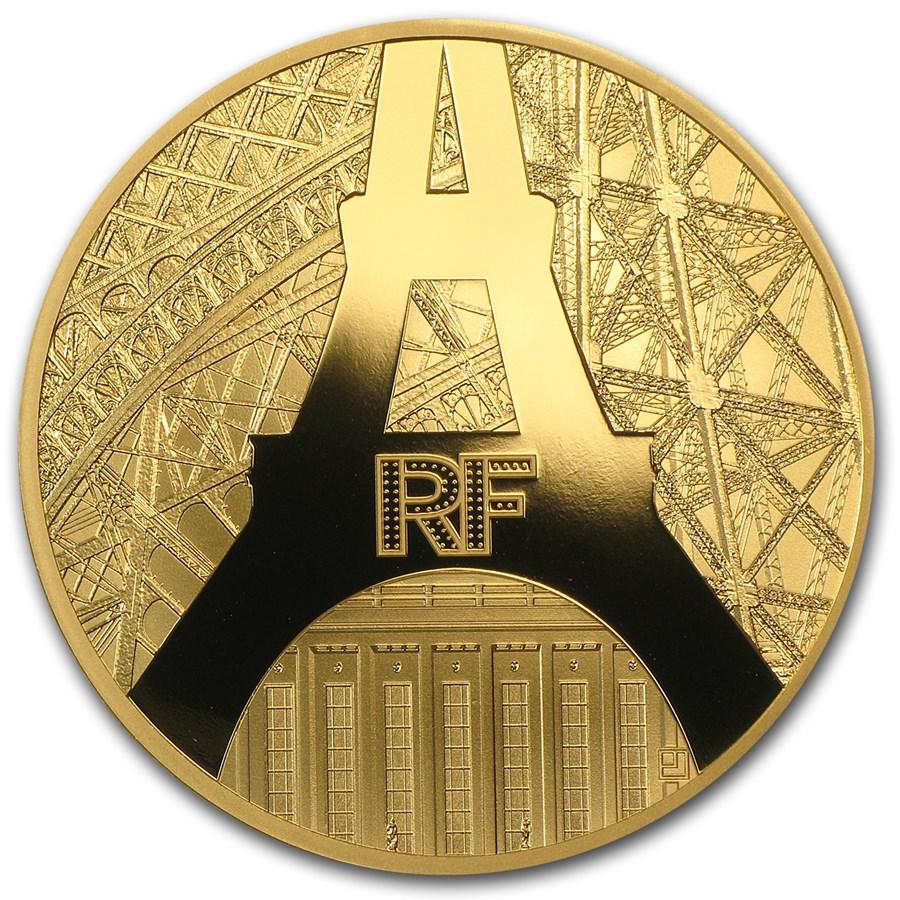 2014 1 oz Proof Gold €200 Eiffel Tower & The Palais de Chaillot
