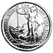2014 1 oz Silver Britannia BU (w/Year of the Horse Privy Mark)