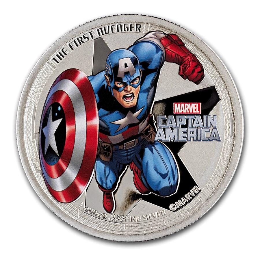 2014 1 oz Silver Niue Avenger Captain America