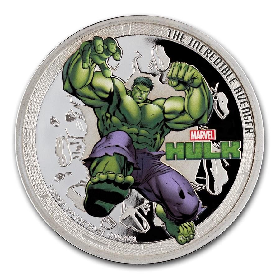 2014 1 oz Silver Niue Avenger Hulk