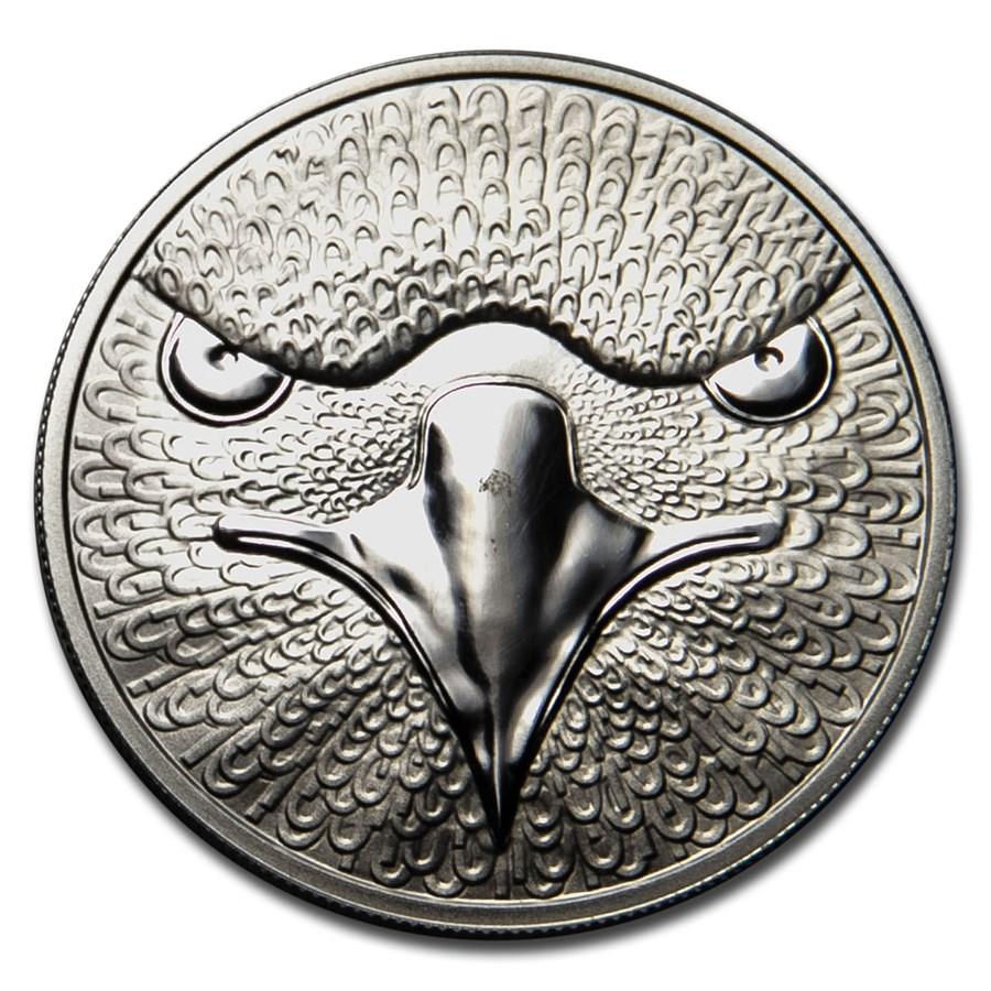 2014 1 oz Silver Sol Noctis Binary Eagle Proof (Abrasion)