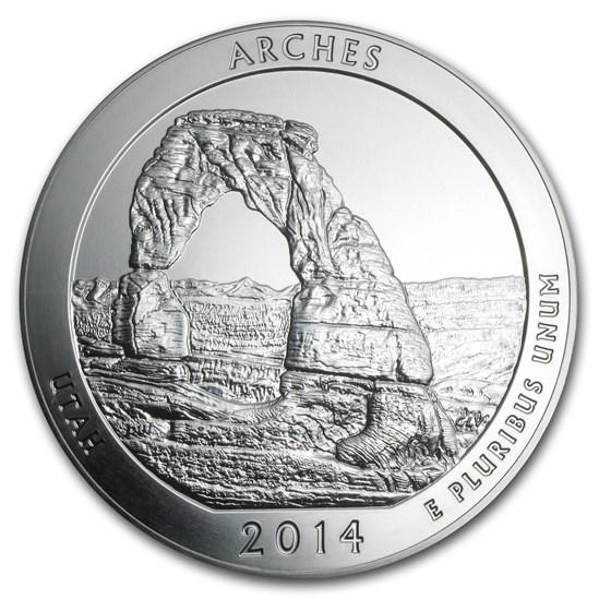2014 5 oz Silver ATB Arches National Park, UT