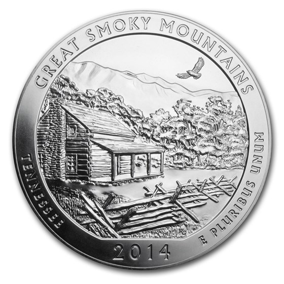 2014 5 oz Silver ATB Great Smoky Mountains National Park, TN