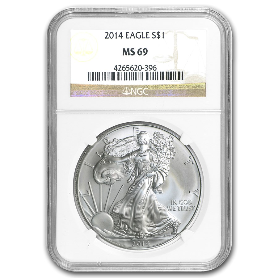 2014 American Silver Eagle MS-69 NGC