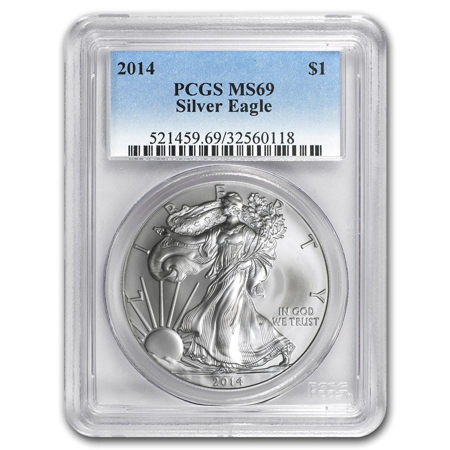 2014 American Silver Eagle MS-69 PCGS