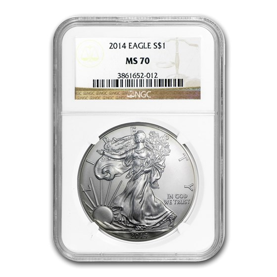 2014 American Silver Eagle MS-70 NGC