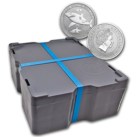 2014 AUS 1/2 oz Silver Great White Shark (Sealed Monster Box)