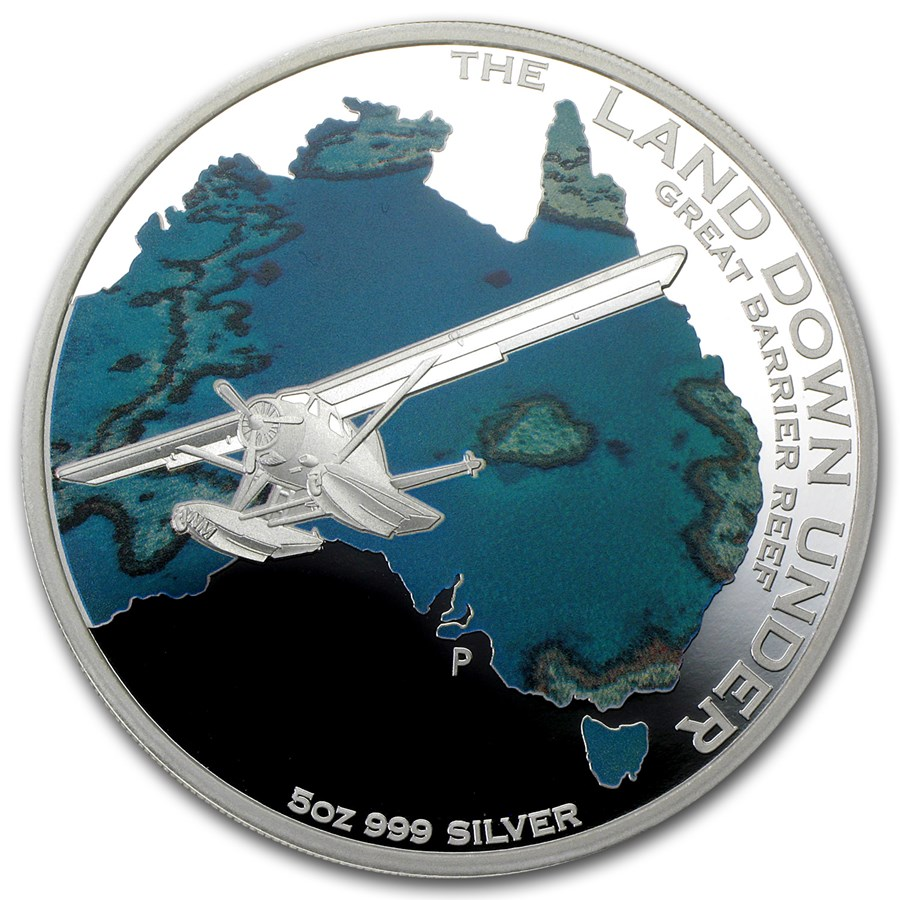 2014 AUS 5 oz Silver The Land Down Under Great Barrier Reef Proof
