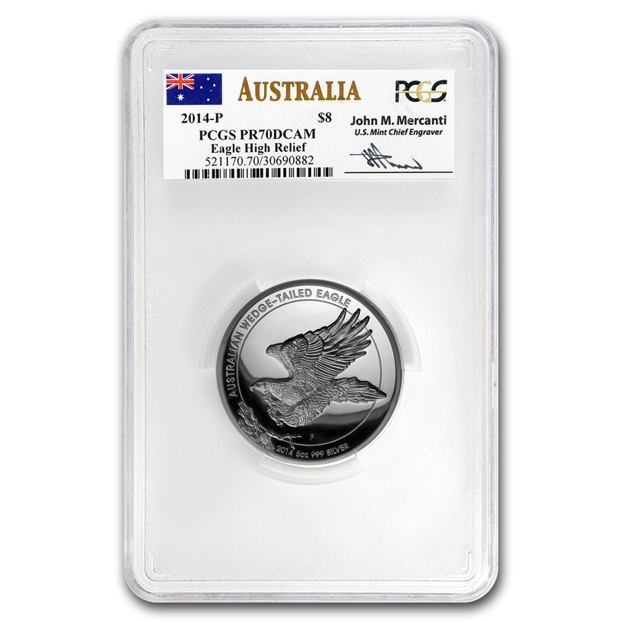2014 AUS 5 oz Silver Wedge-Tailed Eagle PR-70 PCGS (Mercanti)