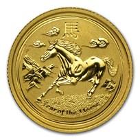 2014 Australia 1/10 oz Gold Lunar Horse BU (Series II)