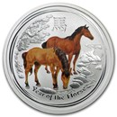 2014 Australia 1/2 oz Silver Horse BU (Series II, Colorized)