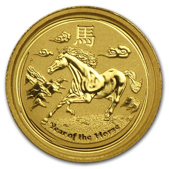 2014 Australia 1/20 oz Gold Lunar Horse BU (Series II)